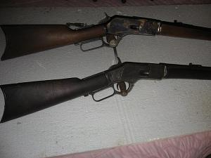 Click image for larger version.  Name:Winchester 76 &73 #2 close.jpg Views:21 Size:51.8 KB ID:258766