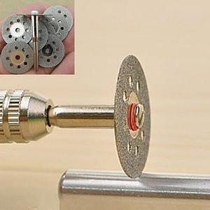 Click image for larger version.  Name:Diamond wheel in Dremel.jpg Views:15 Size:37.0 KB ID:229264