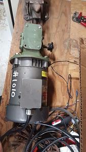 Click image for larger version.  Name:Gear Reducer mated to motor.jpg Views:22 Size:38.0 KB ID:240672
