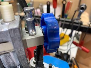 Click image for larger version.  Name:Dillon Powder Measure Knob Blue Large IMG_0477.jpg Views:7 Size:49.8 KB ID:284592