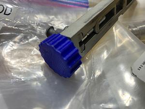 Click image for larger version.  Name:Dillon Powder Measure Knob Blue Small IMG_0479.jpg Views:7 Size:46.5 KB ID:284593