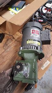Click image for larger version.  Name:motor and gear reducer mated.jpg Views:19 Size:38.1 KB ID:240673