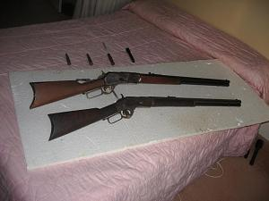 Click image for larger version.  Name:Winchester 76 & 73 #2 far.jpg Views:19 Size:50.9 KB ID:258765