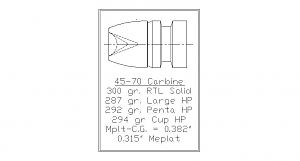 Click image for larger version.  Name:45-70 Carbine 400g Solid.jpg Views:129 Size:23.5 KB ID:244952